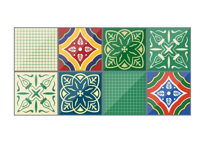Emerald Vector Talavera Tiles Download Free Vector Art Stock - Black and white talavera tile