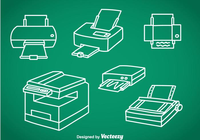 Photocopier Vector Sets