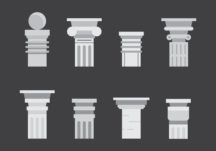 Free Roman Pillar Vector Icons #2