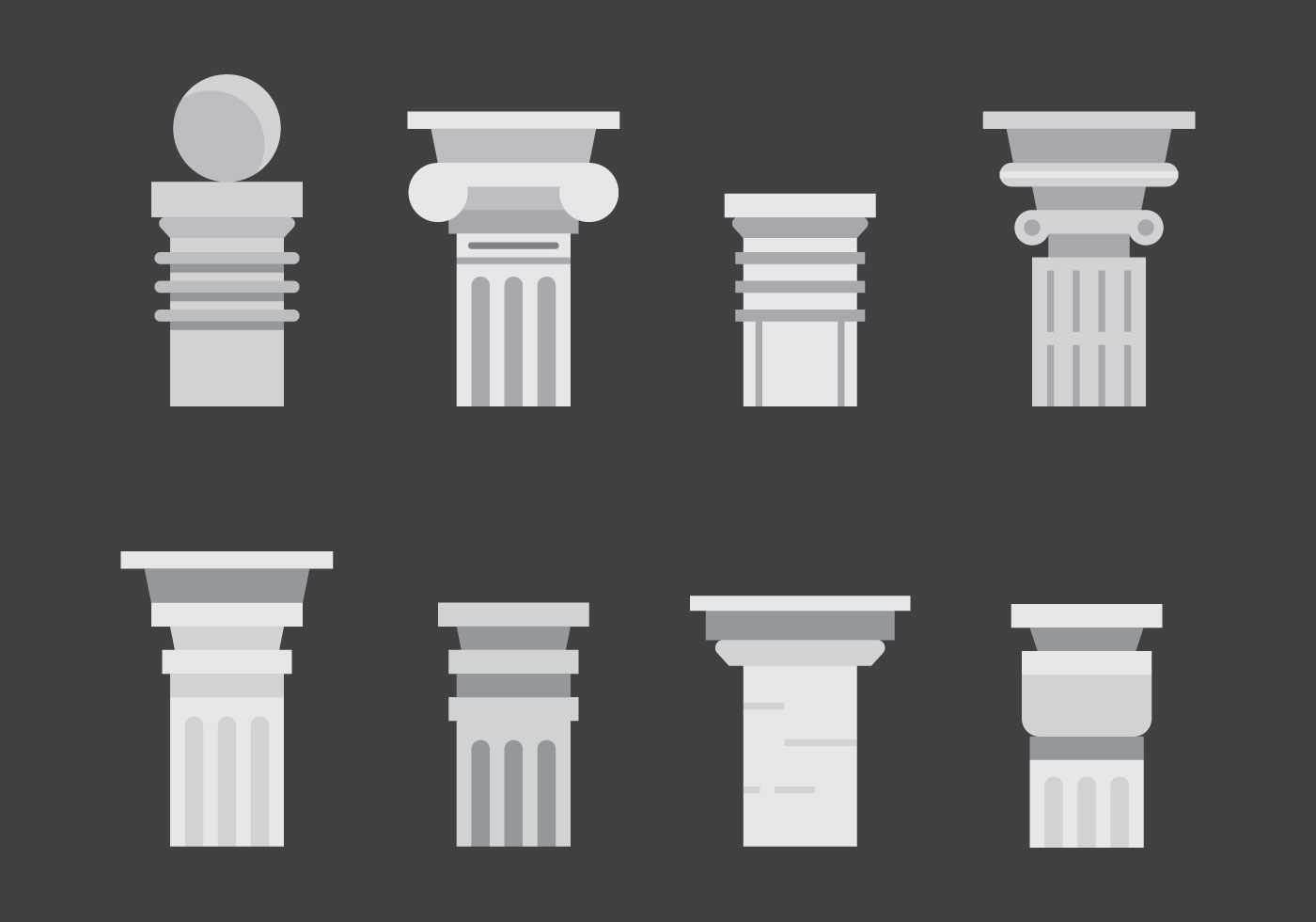 Free Roman Pillar Vector Icons 2 Download Free Vector