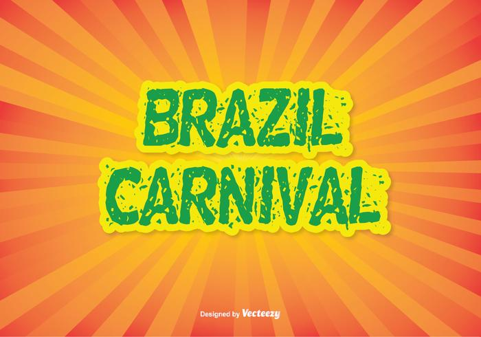 Colorful Brazil Carnival Vector Illustration