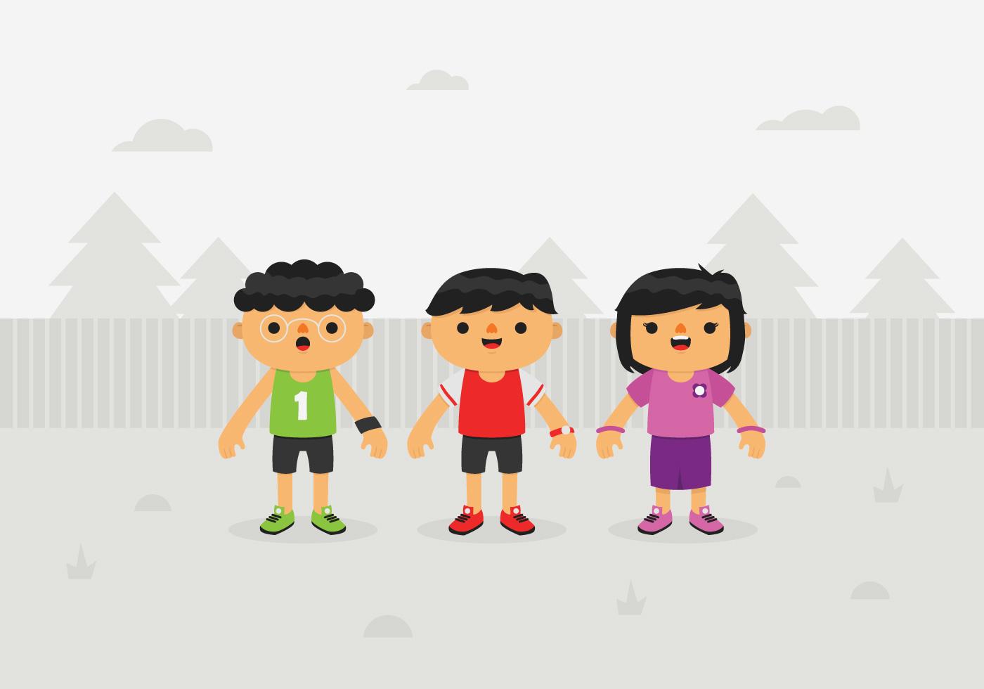 Niños vectoriales - Descargue Gráficos y Vectores Gratis