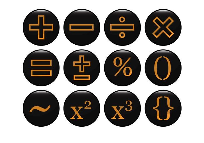 Vector Mathematical Black Icon gratuit
