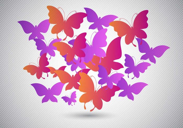 Free Butterflies Design Vector