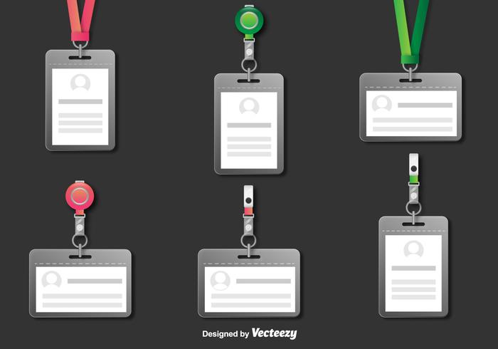 Realistic Lanyard Vector Illustrations