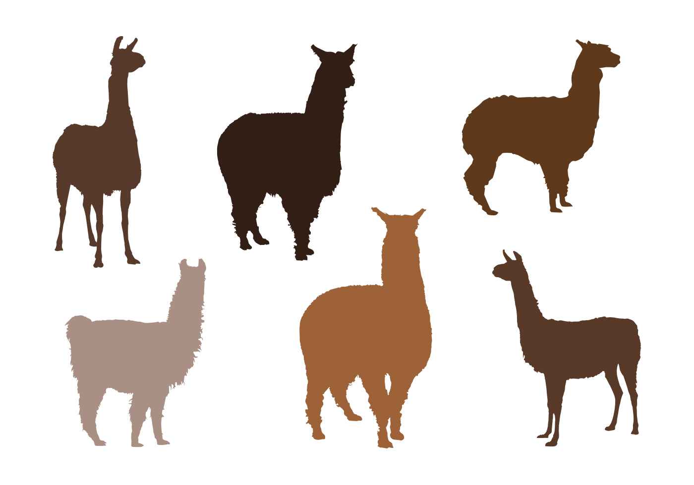 Alpaca Vector Silhouettes - Download Free Vector Art ...