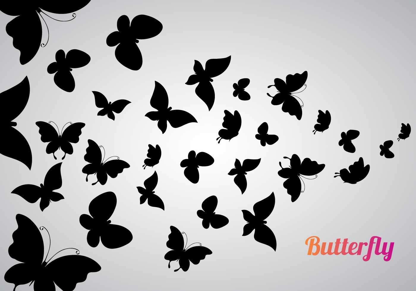 Free Black White Butterfly Clip Art