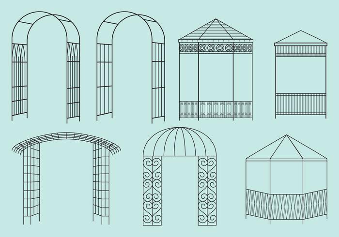 Metaalstructuur Gazebos