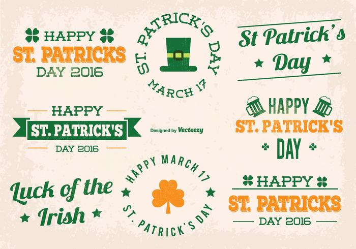 St Patrick Day Vector Labels