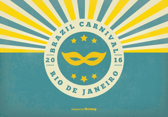 Retro Braziliaanse Carnival Illustratie