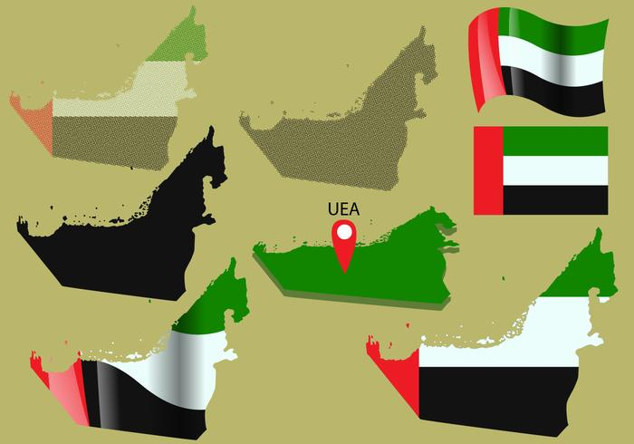 Uni Emirate Arab Map Vectors