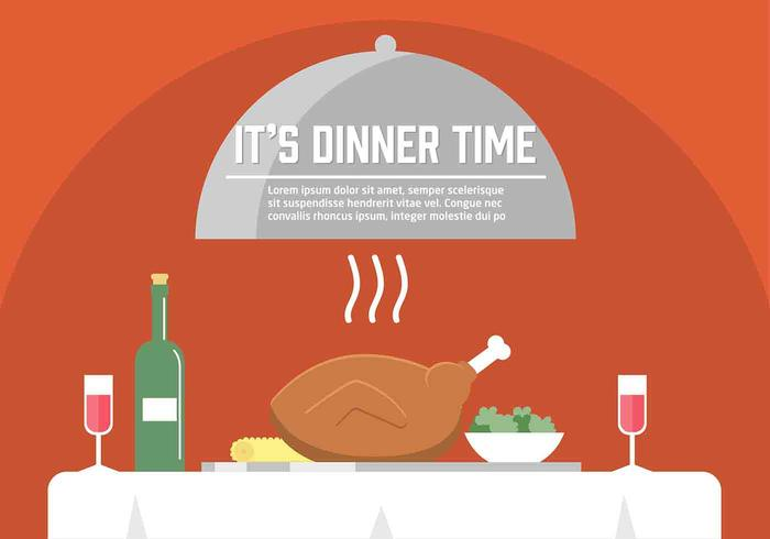 Free Vector Dinner Illustration