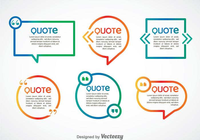 Citaat teken speech bubble gradient vector