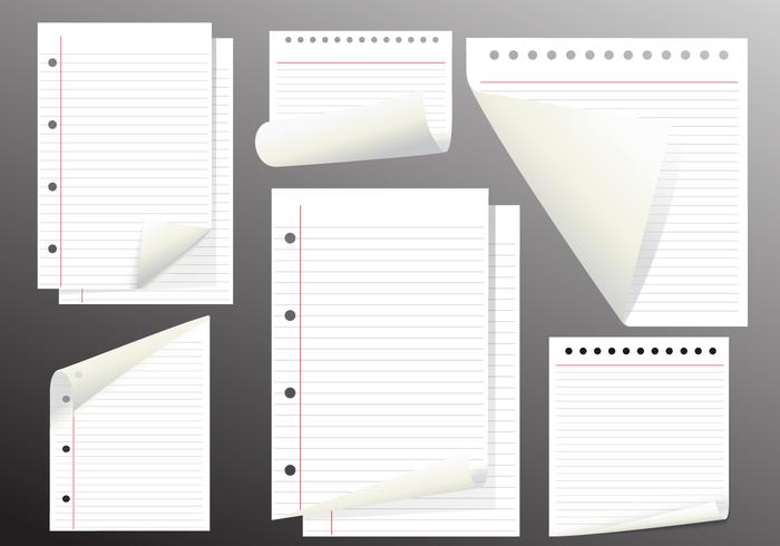 Note Paper Vector Page Flips
