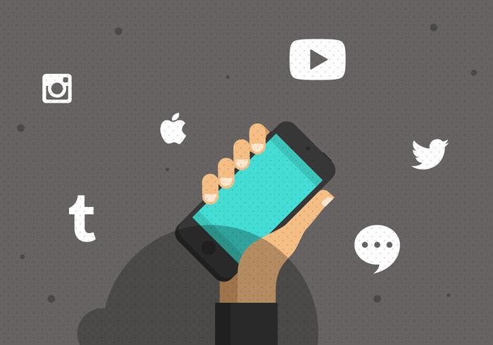 Vector Social Media Smartphone