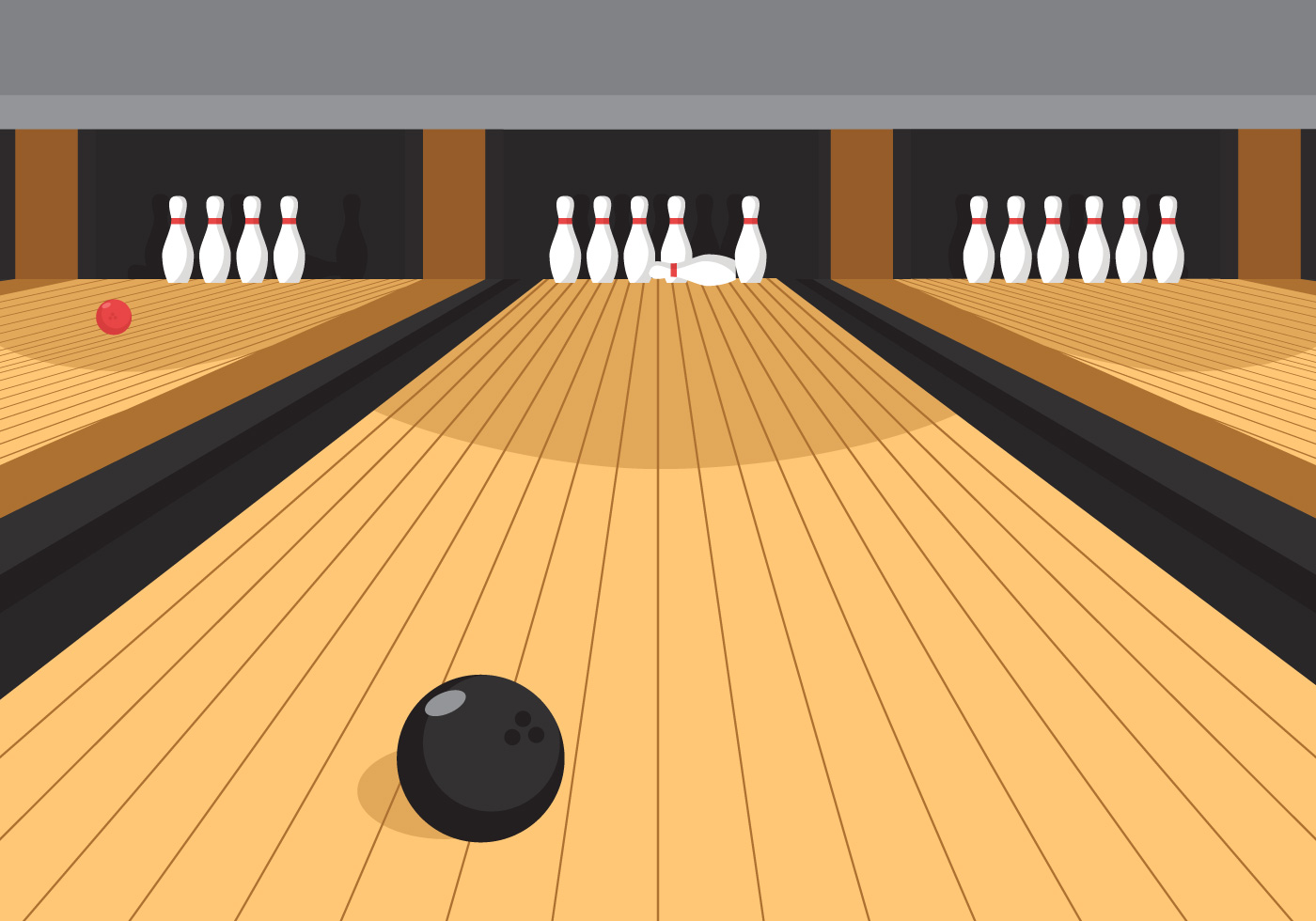 Vector Bowling Alley Download Free Vector Art Stock