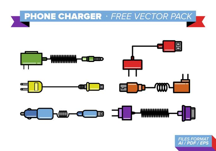 Phone Charger Free Vector Pack