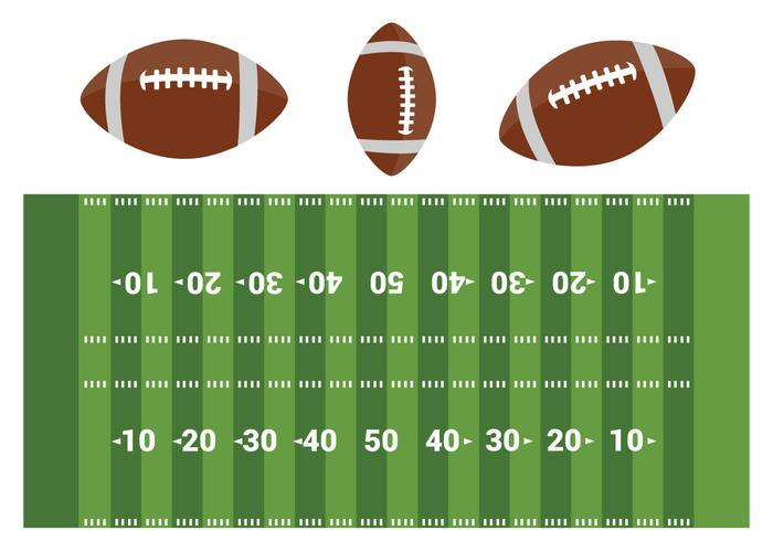 Free American Football Field Vector