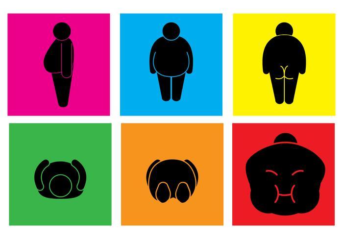 Fat Guy Posture Vectors