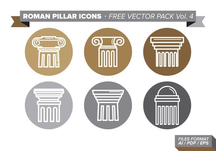 Iconos De Pilar Romano Pack Vector Libre Vol. 4