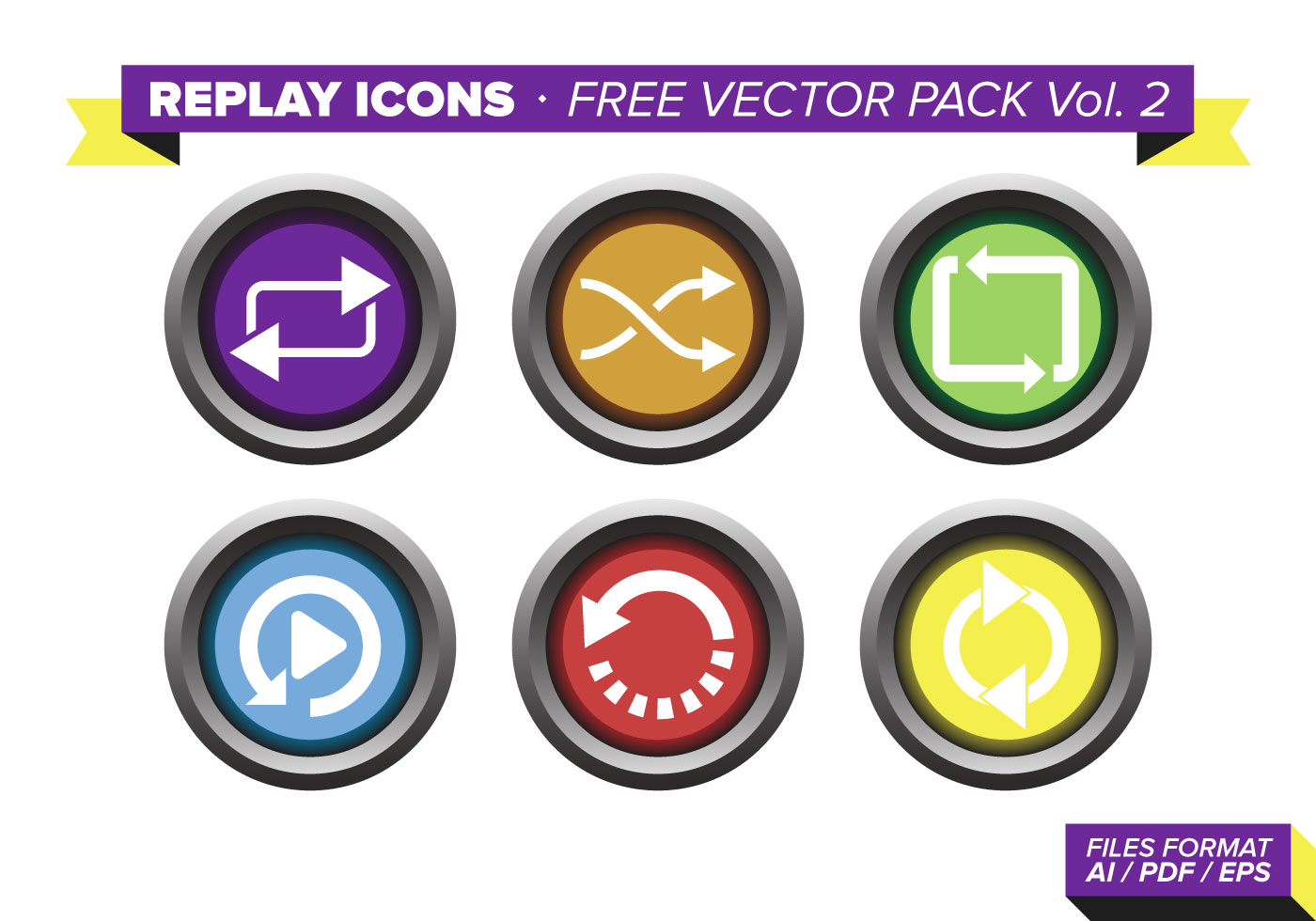 Replay Icons Free Vect...