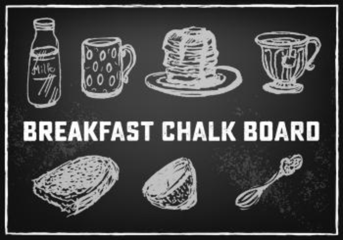 Free Food And Drink Vector Chalkboard