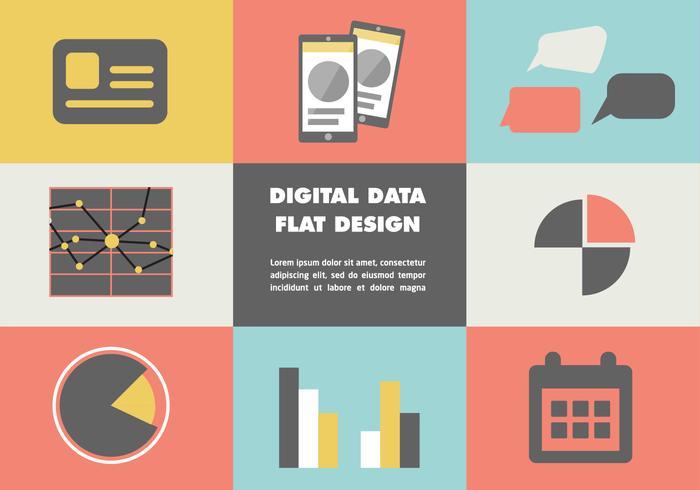 Vector de datos digitales de fondo