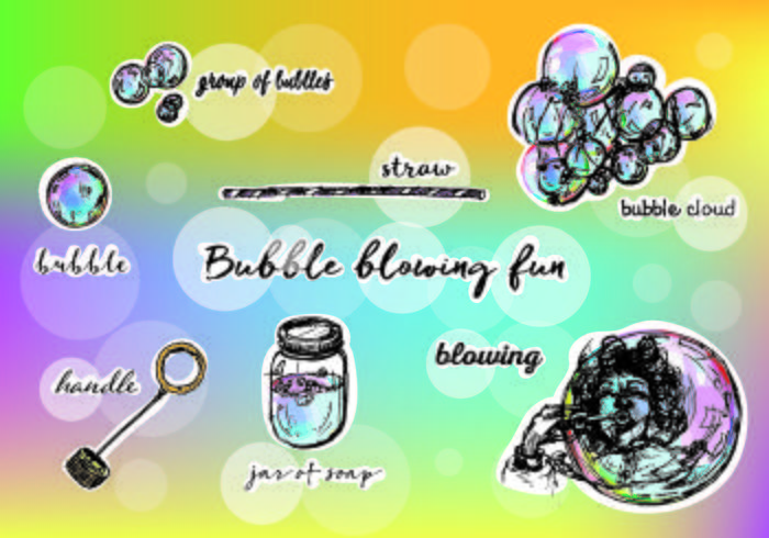 Illustration Of Free Vector  Bubbles