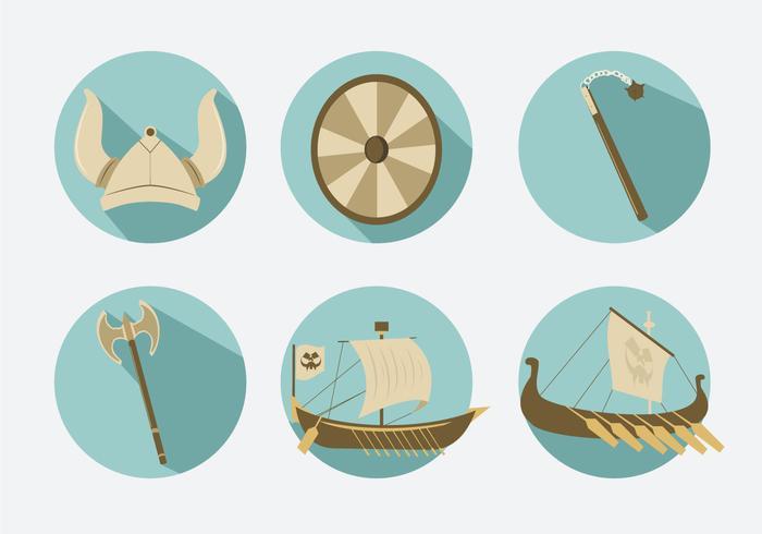 Viking Icons Illustration Vector