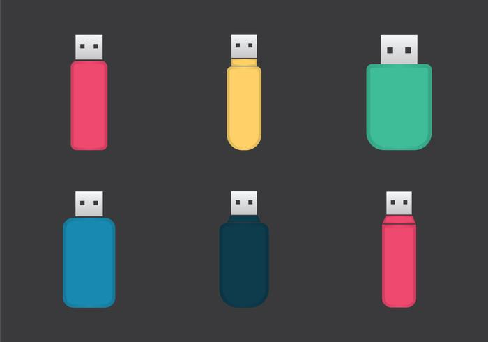 Free Pen Drive Vector Illustration