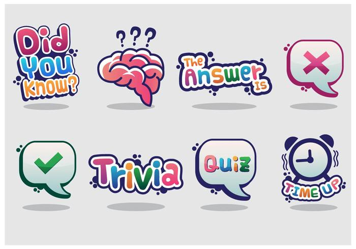 Trivia Vector Sticker