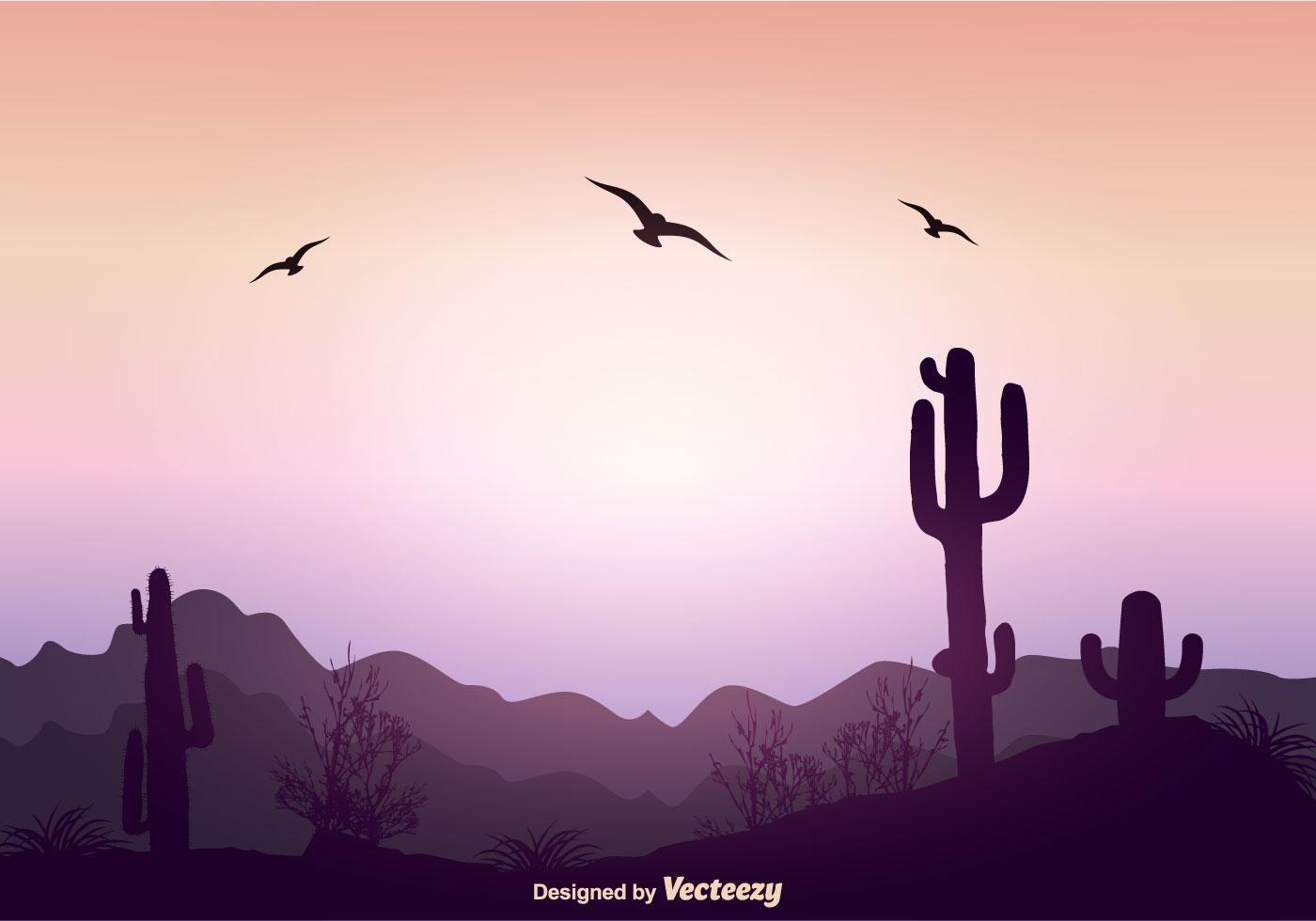 Landscape Illustration Vector Free: Beautiful Landscape Vector Illustration