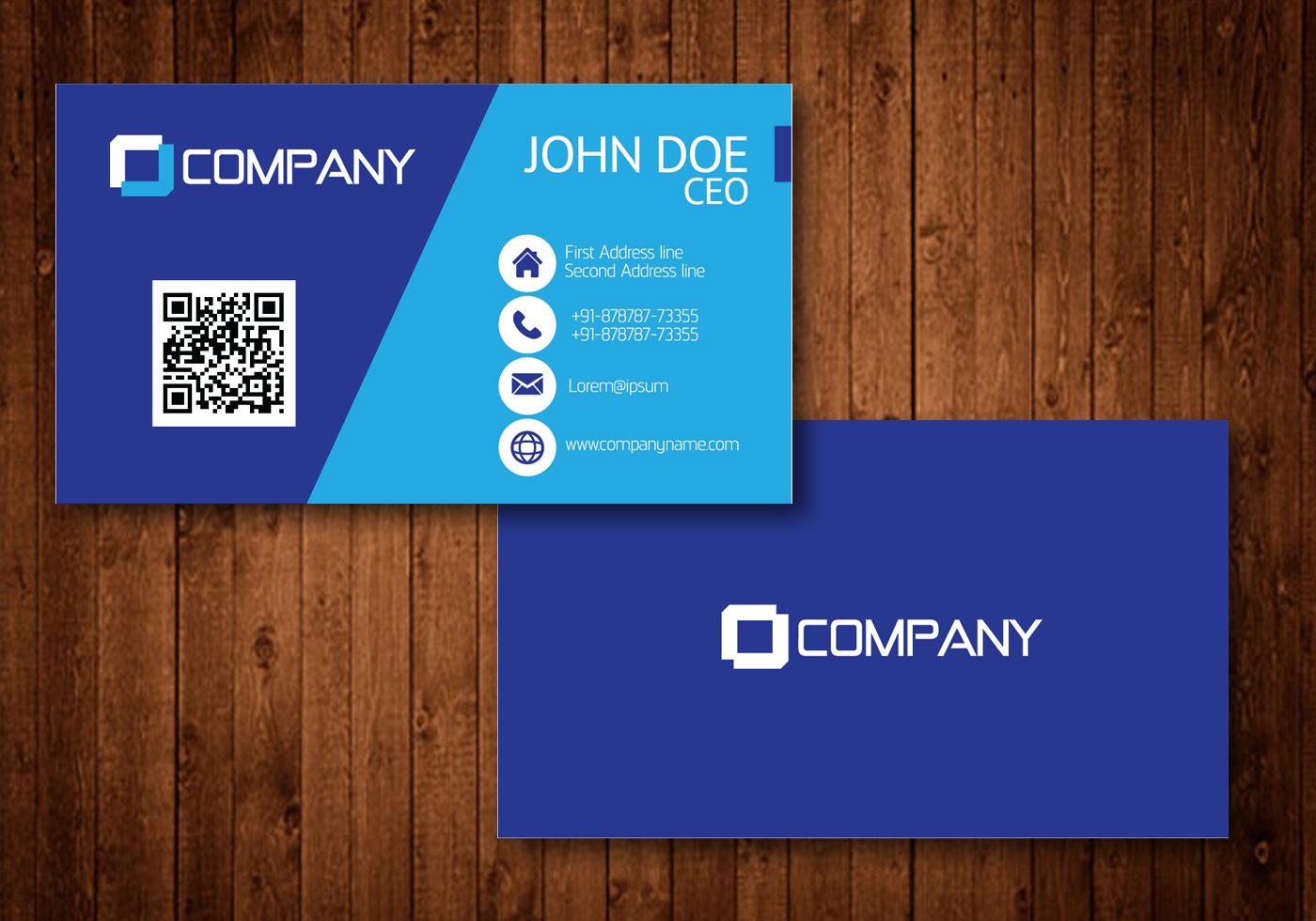 Blue Creative Visiting Card Vector - Download Free Vector ...