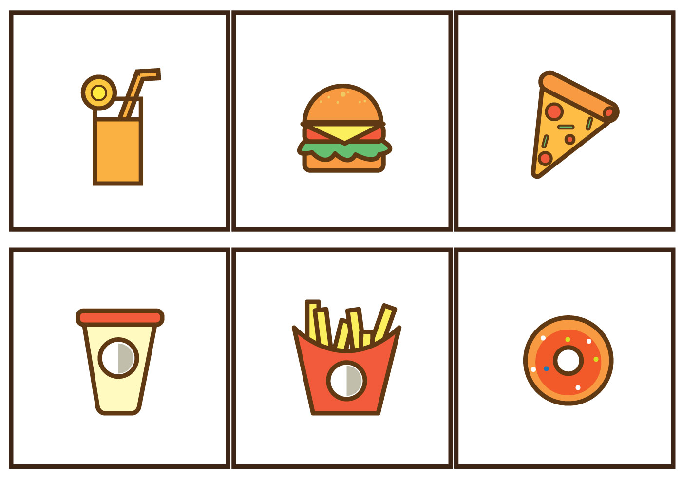 Free Fast Food Icon illustration Vector - Download Free ...