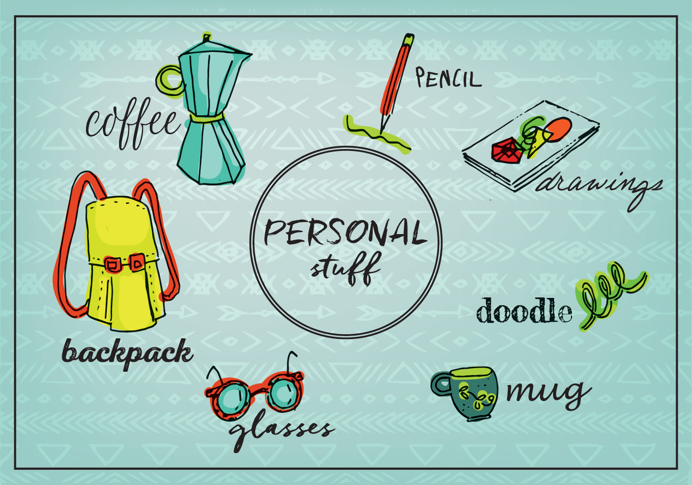 Free Personal Stuff Objects Background Download Free