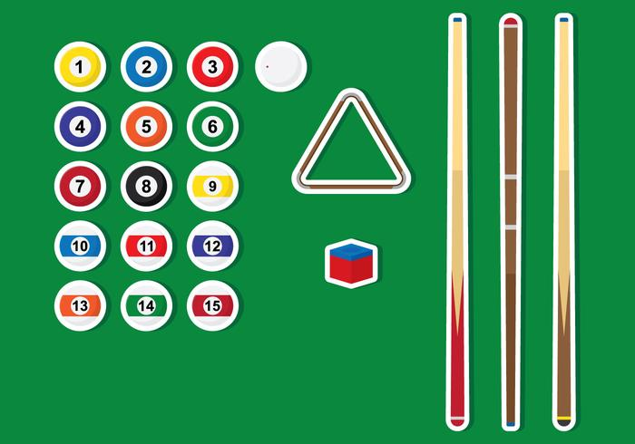 Pools Sticks And Ball Vectors