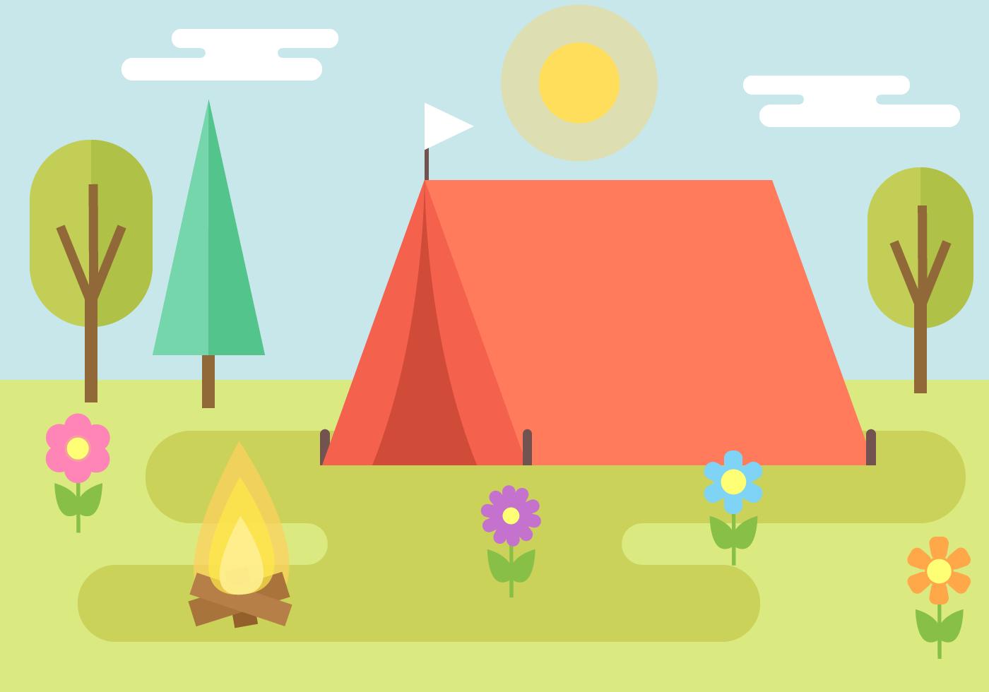 Free Camping Vector Download Free Vectors Clipart Graphics Vector Art