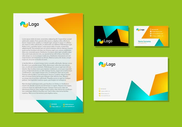 Letter Head Design Corporate Identity Stationery Technologic vector