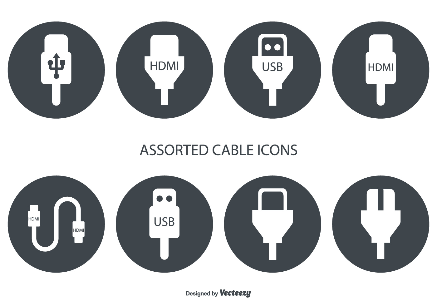 assorted hdmi and usb cable vector icons download free vectors clipart graphics vector art https www vecteezy com vector art 106276 assorted hdmi and usb cable vector icons