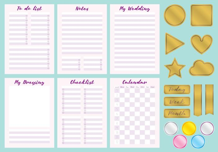 Wedding Organizer Vectors