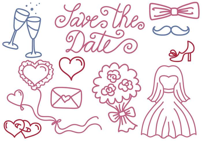 Free Wedding and Save the Date Vectors