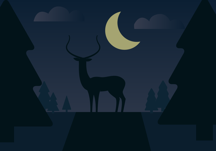 Free Deer Vector Landschaft