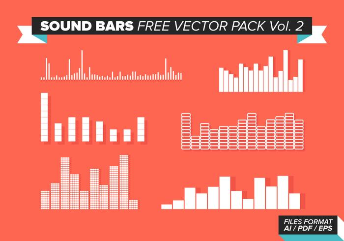 Sound Bars Free Vector Pack Vol. 2