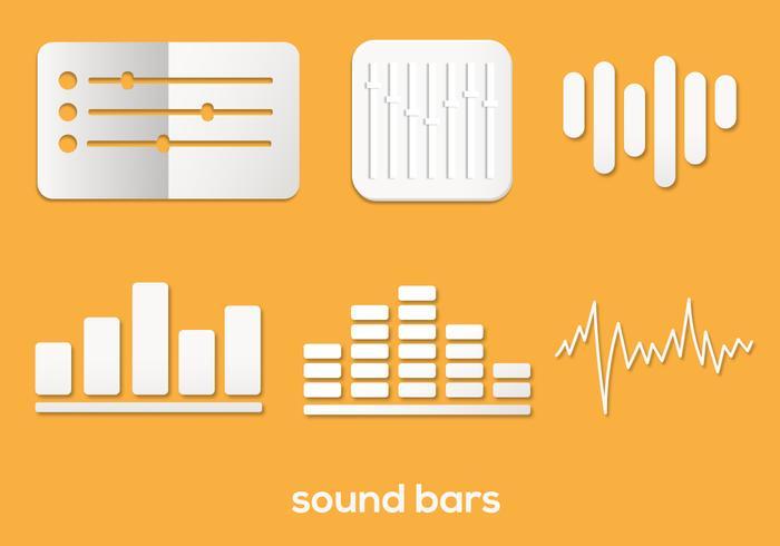 Sound Bar Vektor Set