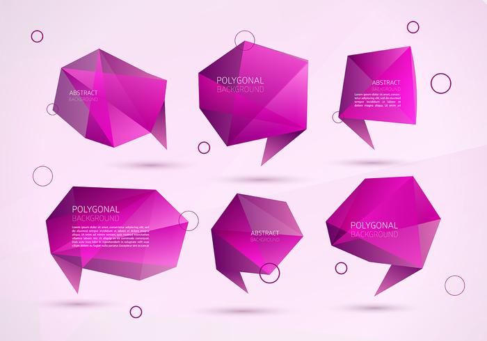 Abstract Polygonal Speech Bubble Vectors