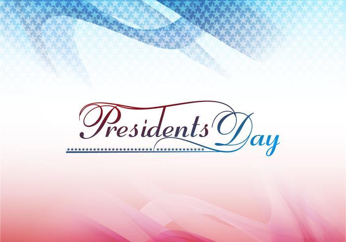 Presidentens dagkort vektor