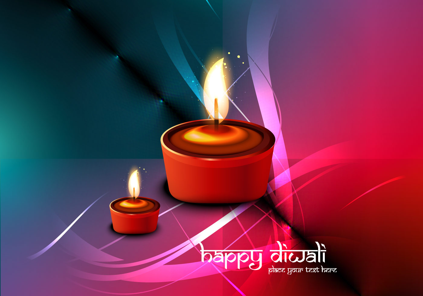 lit oil lamps for diwali festival download free vector. Black Bedroom Furniture Sets. Home Design Ideas