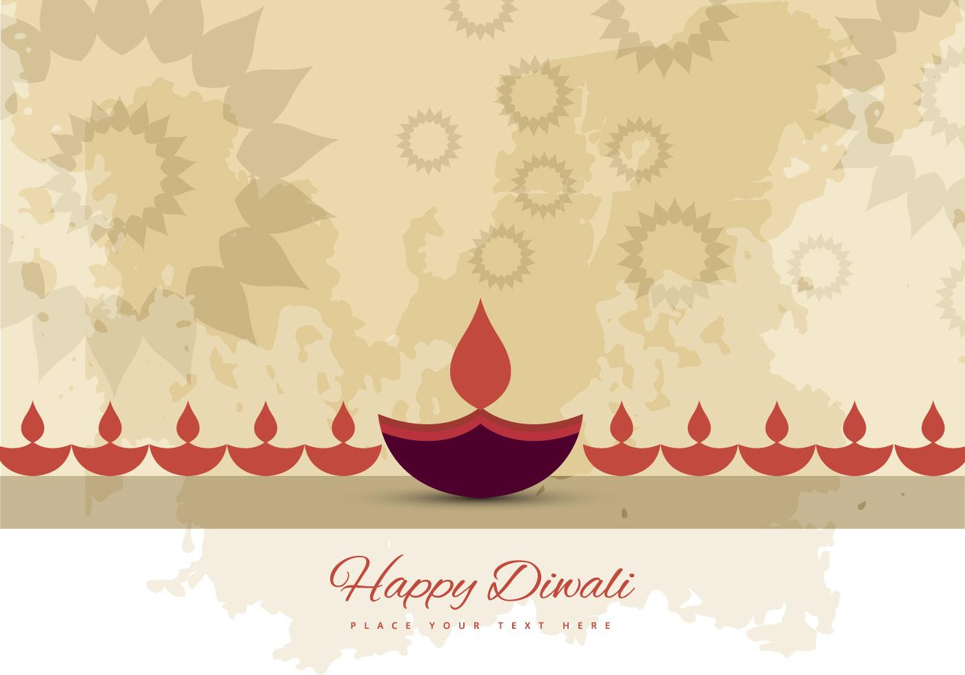 Greeting Card For Hindu Festival Diwali Download Free Vector Art