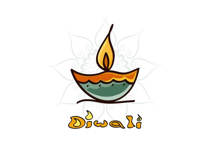 Diwali Diya Avec Rangoli