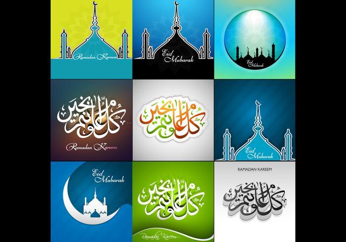 Coleção de Ramadan Kareem Card